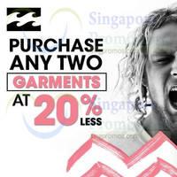 Read more about Billabong 20% OFF Garments Promo @ Isetan 27 Sep - 5 Oct 2014