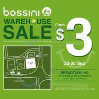 Bossini Warehouse SALE 22 - 28 Sep 2014