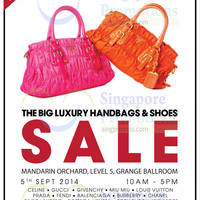Brandsfever Handbags & Footwear Sale @ Mandarin Orchard 4 - 5 Sep 2014