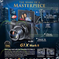 Canon G1X Mark II Digital Camera Features & Price 18 Sep 2014