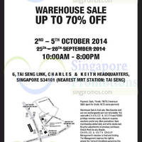 Read more about Charles & Keith & Pedro Final Warehouse Sale Up To 70% Off 2 - 5 Oct 2014