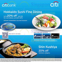 Read more about Hokkaido Sushi & Shin Kushiya Up to 20% OFF For Citibank Cardmembers 14 Sep 2014