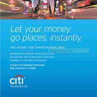 Read more about Citibank Free Instant Transfers Worldwide 14 Sep 2014