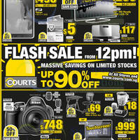 Courts Flash Sale Up To 90% OFF 3 Sep 2014
