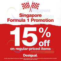 Read more about Desigual F1 Promotion 18 - 21 Sep 2014