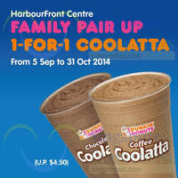 Read more about Dunkin Donuts 1-for-1 Coffee Coolatta @ Harbourfront Centre 5 Sep - 31 Oct 2014