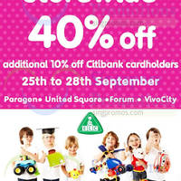 Read more about Early Learning Centre 40% OFF Storewide SALE 25 - 28 Sep 2014