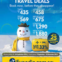 Read more about Expedia Up To 33% OFF Sale 9 - 30 Sep 2014
