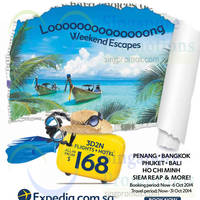 Read more about Expedia 3D2N Weekend Escapes From $168 (Flights + Hotel) 30 Sep - 6 Oct 2014