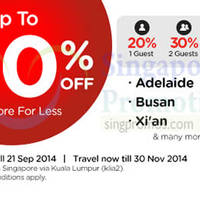Read more about Air Asia Promo Air Fares 15 - 21 Sep 2014