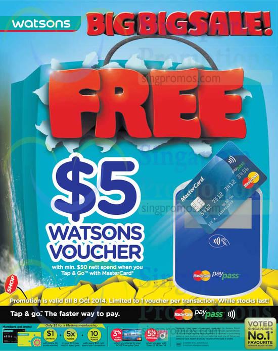 Free 5 Dollar Voucher with 50 Dollar Spend
