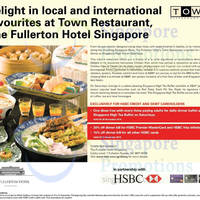 Read more about Fullerton Hotel Town Restaurant One Dines FREE For HSBC Cardmembers 15 Sep - 30 Nov 2014