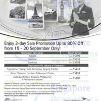Garuda Indonesia From $188 Promo Air Fares 19 - 20 Sep 2014