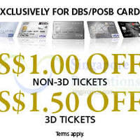Read more about Golden Village Cinemas Up To $3 OFF For DBS/POSB Cardmembers 12 Mar - 31 Dec 2015