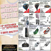 Golf Direct September Special Weekend Offers 19 - 21 Sep 2014