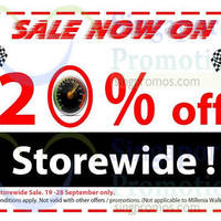 Howards Storage World 20% Off Storewide Promo 19 - 28 Sep 2014
