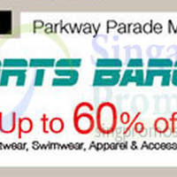 Isetan Sports Bargain @ Parkway Parade 22 - 28 Sep 2014