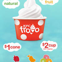 KFC NEW Froyo (Frozen Yogurt) @ 10 Selected Restaurants 22 Sep 2014