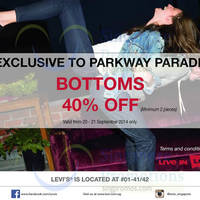 Read more about Levi's 40% OFF Bottoms @ Parkway Parade 20 - 21 Sep 2014