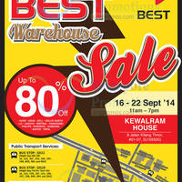 Read more about Best Denki Warehouse SALE @ Kewalram House 16 - 22 Sep 2014