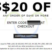 Read more about Luxola $20 OFF Storewide Coupon Code 1 - 2 Sep 2014