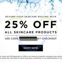 Read more about Luxola 25% OFF Skincare Coupon Code (NO Min Spend) 26 - 29 Sep 2014