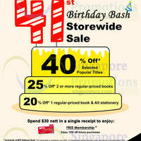 MPH Bookstores 20% OFF Storewide Promo @ Robinson Road 18 - 30 Sep 2014