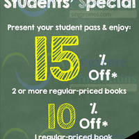 Read more about MPH Bookstores Students Special (Weekdays) @ Parkway Parade 8 Sep 2014