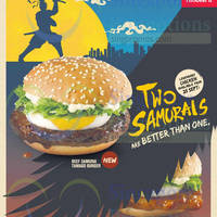 McDonald's NEW Chicken Samurai Tamago Burger Available From 25 Sep 2014
