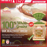 Read more about Sunshine New Classic Wholemeal Bread @ NTUC FairPrice 26 Sep 2014