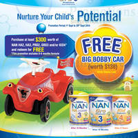 Read more about Nestle FREE Big Bobby Car With $300 Nan Gro Purchase 1 - 30 Sep 2014