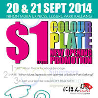 Read more about Nihon Mura Express $1 Colour Plate Promo 20 - 21 Sep 2014