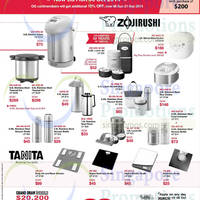 OG Zojirushi Kitchenware & Tanita Scales Offers 18 Sep - 6 Oct 2014