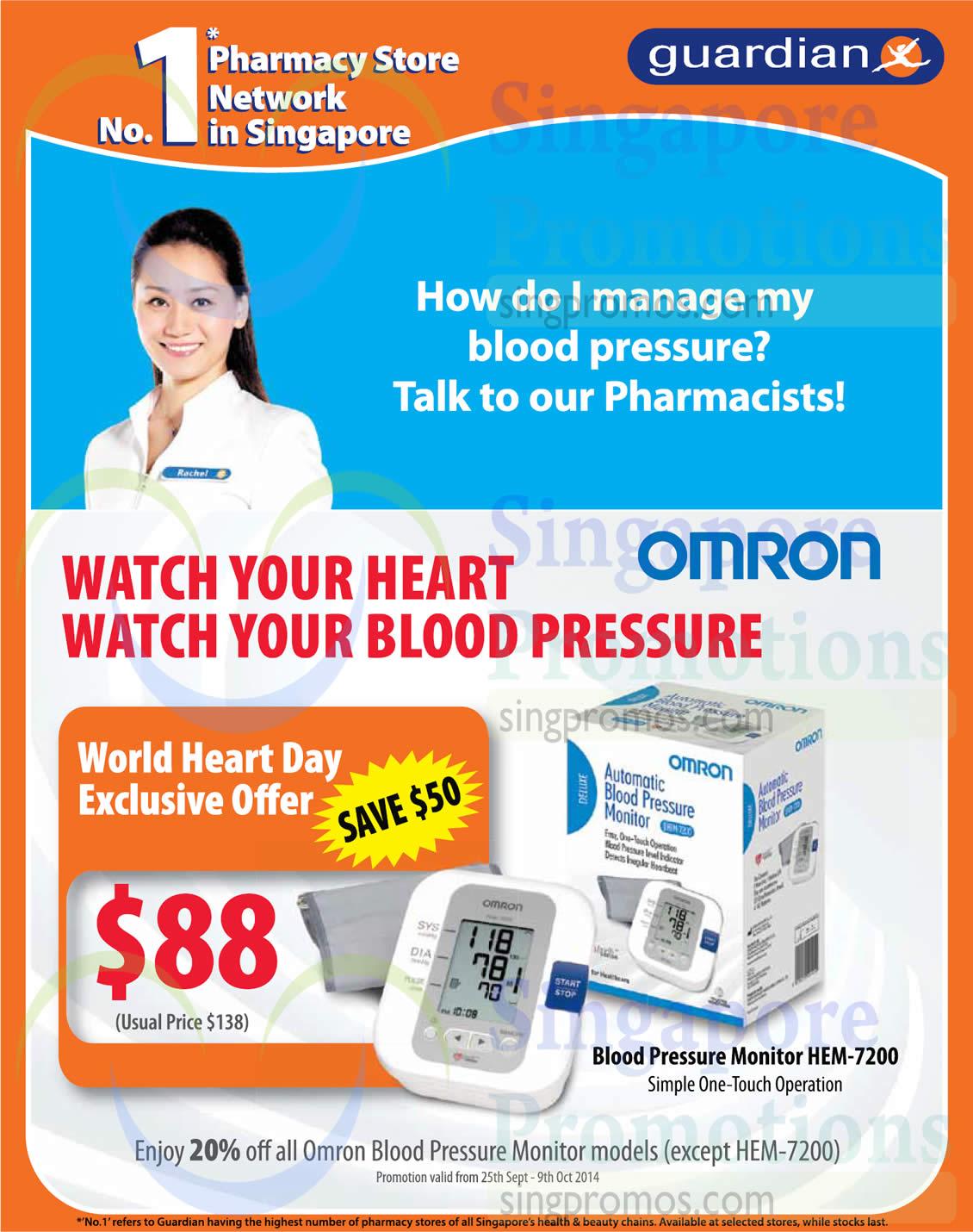 Omron HEM-7200 Blood Pressure Monitor