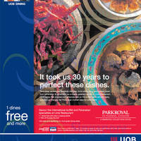 Park Royal Lime Restaurant One Dines Free For UOB Cardmembers 17 Sep - 31 Oct 2014