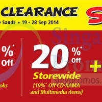 Popular Stock Clearance Sale @ White Sands 19 - 28 Sep 2014