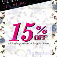 Read more about Rosebullet 15% OFF F1 Promotion 17 - 21 Sep 2014