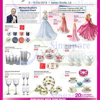 Royal Doulton Tableware & Collectibles 20% OFF Promo @ Isetan Scotts 3 - 15 Oct 2014