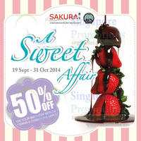 Sakura 50% Off On Your Birthday Month 19 Sep - 31 Oct 2014