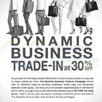 Read more about Samsonite 30% OFF Trade-In Promo 4 Sep 2014