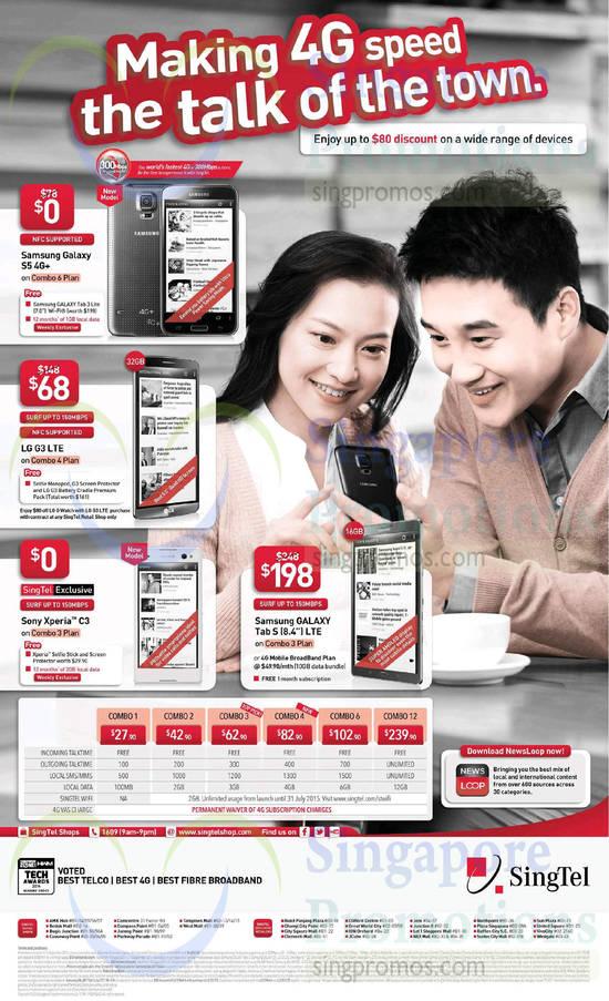Samsung Galaxy S5, LG G3, Sony Xperia C3, Samsung Galaxy Tab S 8.4