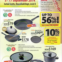 Scanpan Kitchenware Promo Offers @ Isetan Scotts 5 - 17 Sep 2014