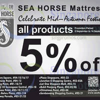 Read more about Sea Horse 5% OFF Storewide Promo 5 - 14 Sep 2014