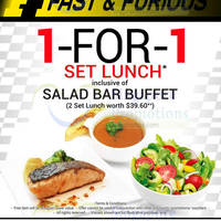Read more about Shallots 1 For 1 Set Lunch Promo 15 - 19 Sep 2014