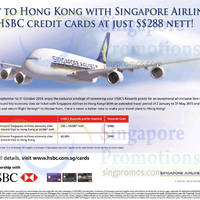 Read more about Singapore Airlines Hong Kong From $288 For HSBC Cardmembers 10 Sep - 31 Oct 2014