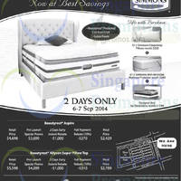 Read more about SleepSavvy Simmons Mattress Offers 6 Sep 2014