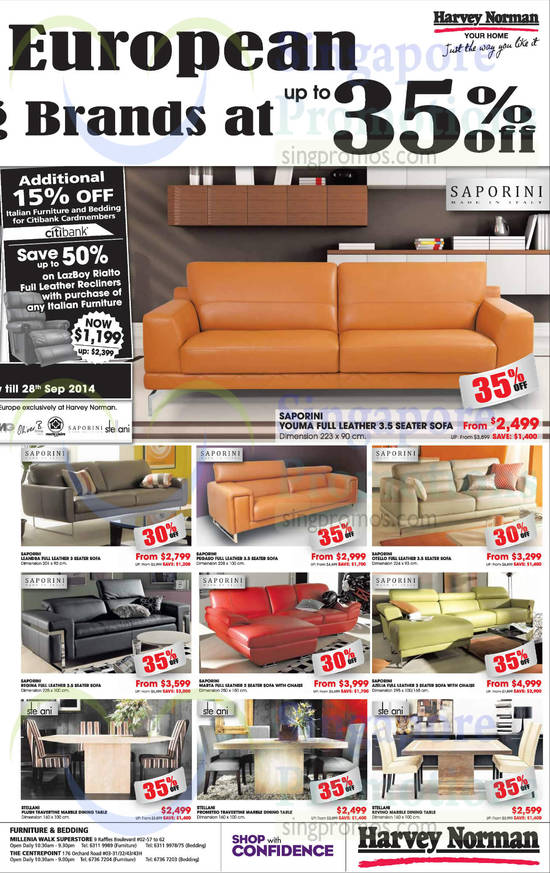 Saporini Youma Sofa, Saporini Leandra Sofa, Saporini Pegaso Sofa, Saporini Otello Sofa, Saporini Regina Sofa, Saporini Marta Sofa, Saporini Azelia Sofa, Stellani Plush Sofa, Stellani Prometeo Travertine Dining Table, Stellani Kevino Dining Table