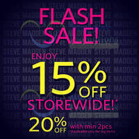 Read more about Steve Madden 15% OFF Storewide Flash Sale @ ION Orchard 19 - 20 Sep 2014