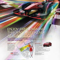 Suntec City Race Weekend Free Parking Promo 20 - 21 Sep 2014