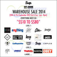 Read more about Sup Clothing Warehouse Sale 20 - 21 Sep 2014